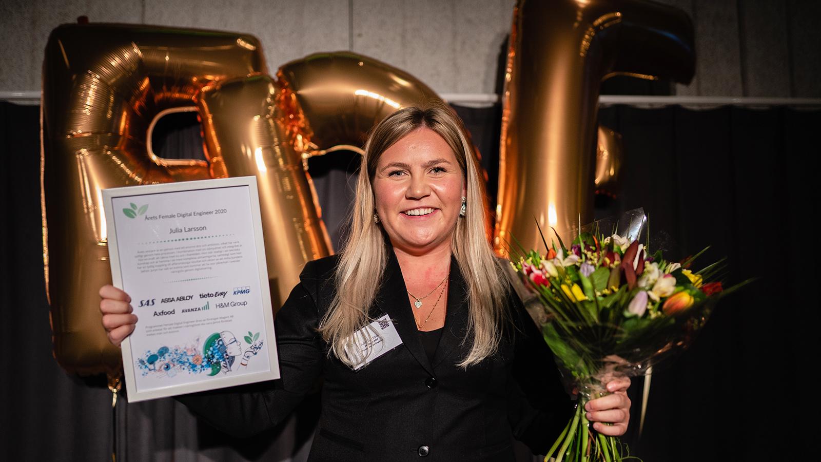 Julia Larsson, Umeå universitet, har utsetts till Female Digital Engineer 2020.