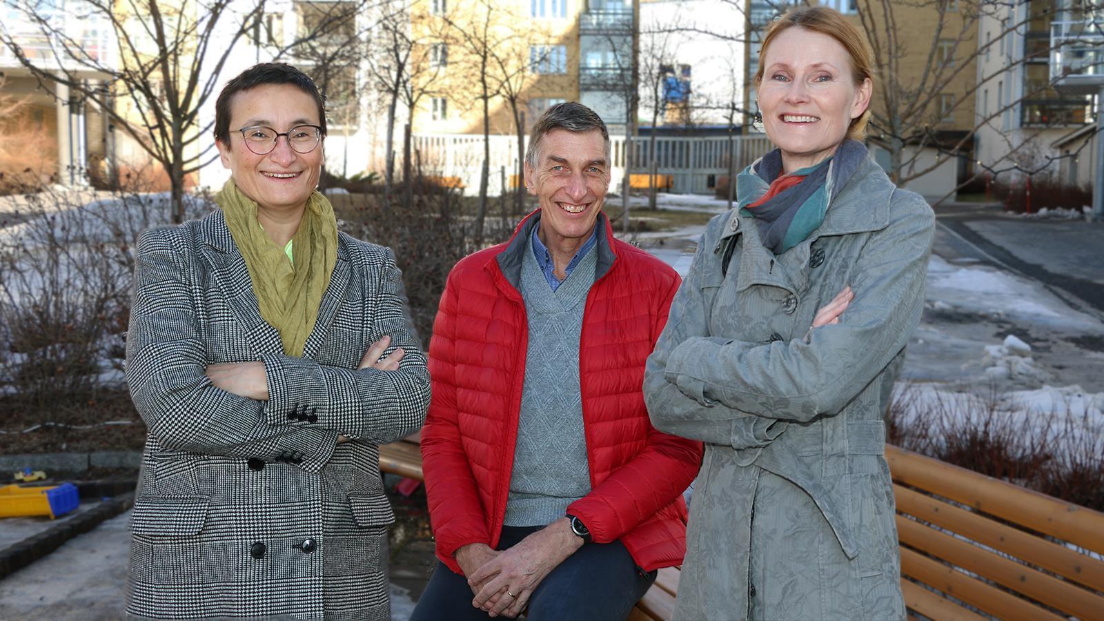 Virginia Dignum, Frank Dignum och Helena Lindgren, alla professorer på Institutionen för datavetenskap.