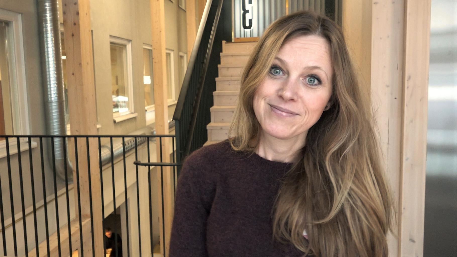 Katarina Borstedt, kompetensförsörjningsansvarig på Northvolt. Foto: EFN Ekonomikanalen.