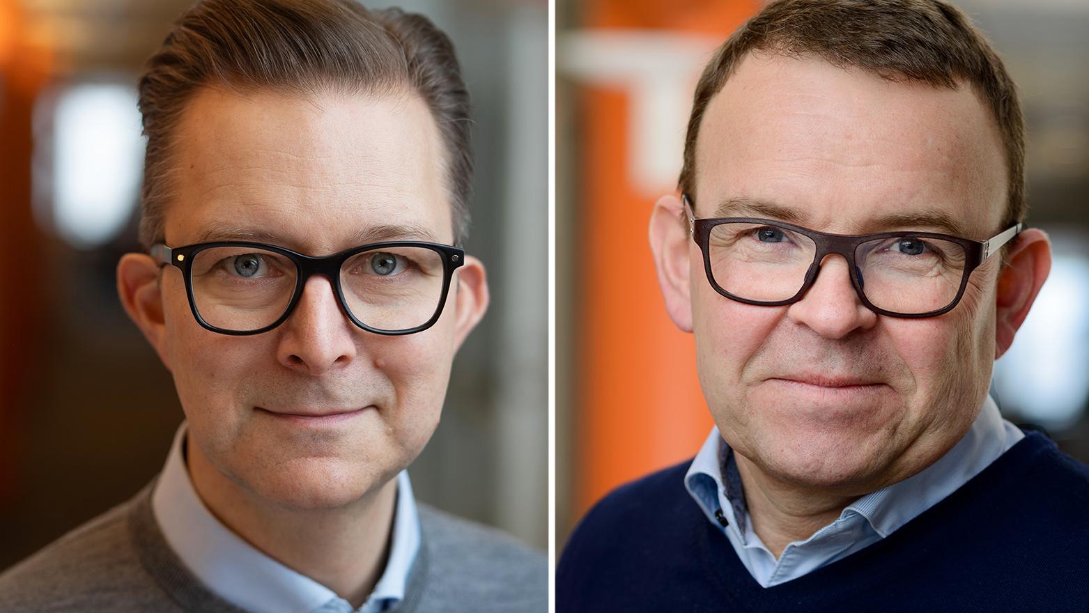 Stefan Eriksson och Peter Renkel från Konftel är mycket nöjda över certifieringen som klimatsmart företag.