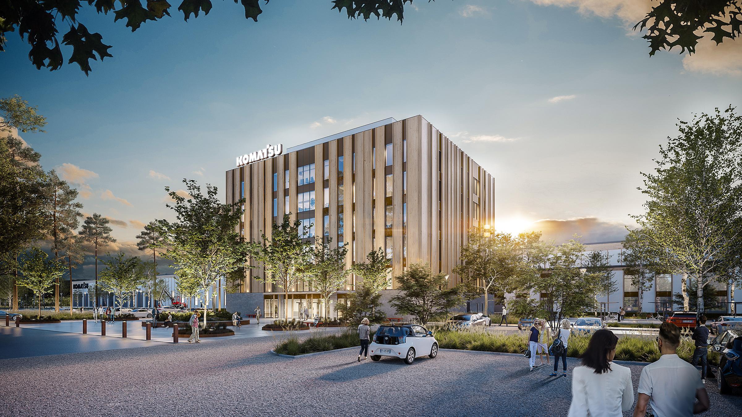 Peab har fått i uppdrag att bygga Komatsu Forests nya fabrik i Umeå.