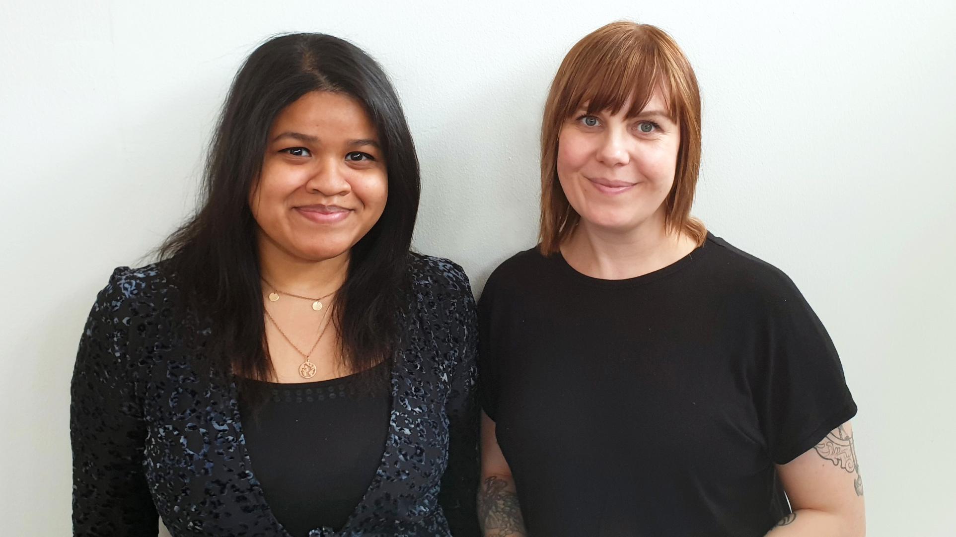 Maya Umar och Ingrid Fridesjö vann kategorin Impact Maker under Venture Cup Nords Regionfinal den 12 maj.