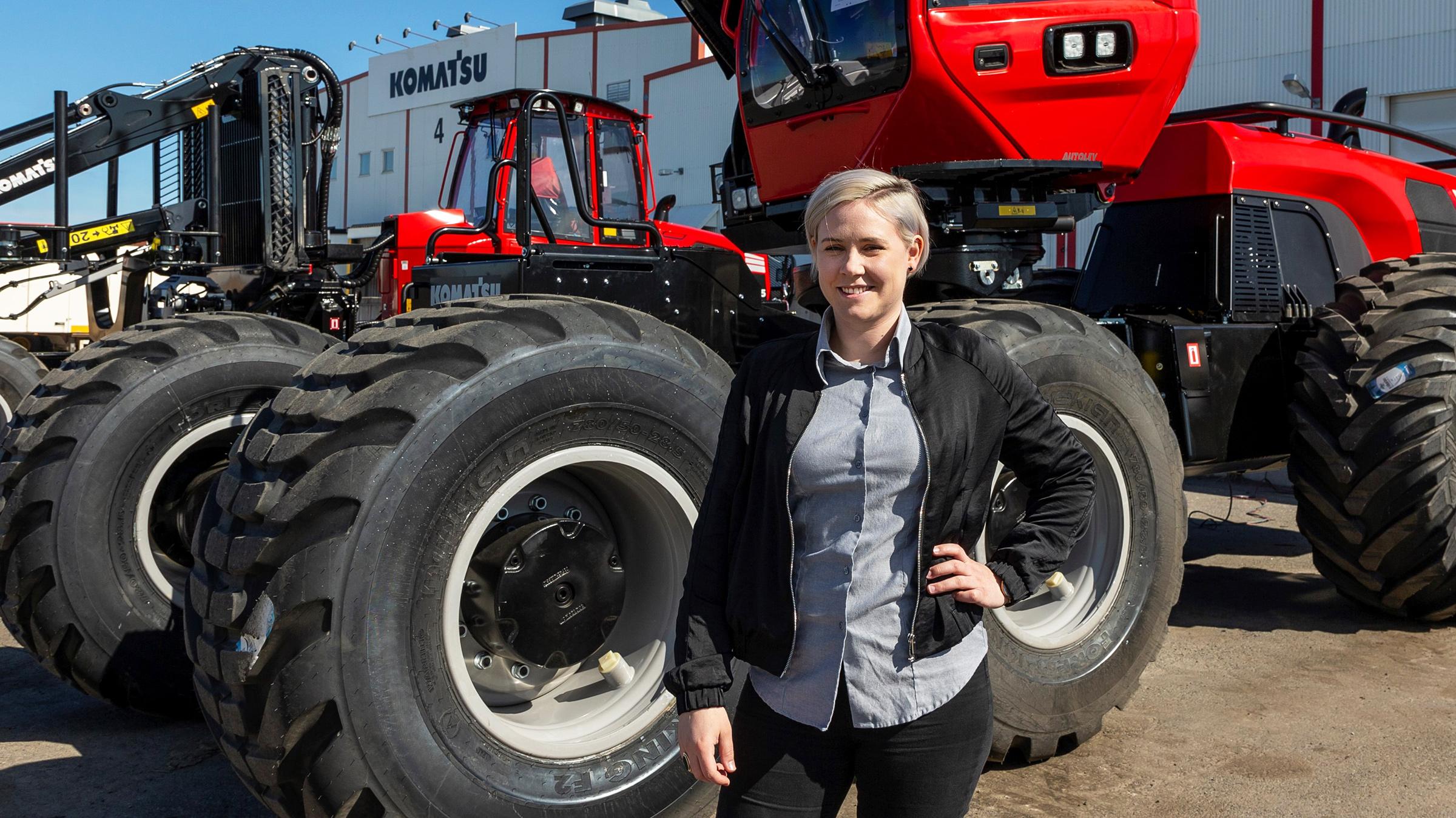 Anna Fredrikson är ny fabrikschef på Komatsu Forest.