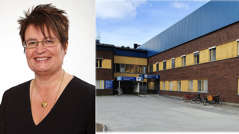 Pia Kristiansson, projektledare för närsjukvården i södra Lappland, ser fram mot att kunna erbjuda 5G-tjänster vid Storumans sjukstuga.