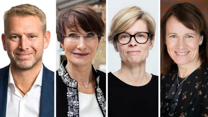 Peter Carlsson, Northvolt, Pia Sandvik, RISE, Birgitta Bergvall-Kåreborn, Luleå tekniska universitet, och Kristina Sundin Jonsson, Skellefteå kommun.