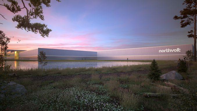Northvolts nya batterifabrik i Skellefteå är ett exempel på den framväxande gröna industirin som behöver fler medarbetare. Illustration: Northvolt.