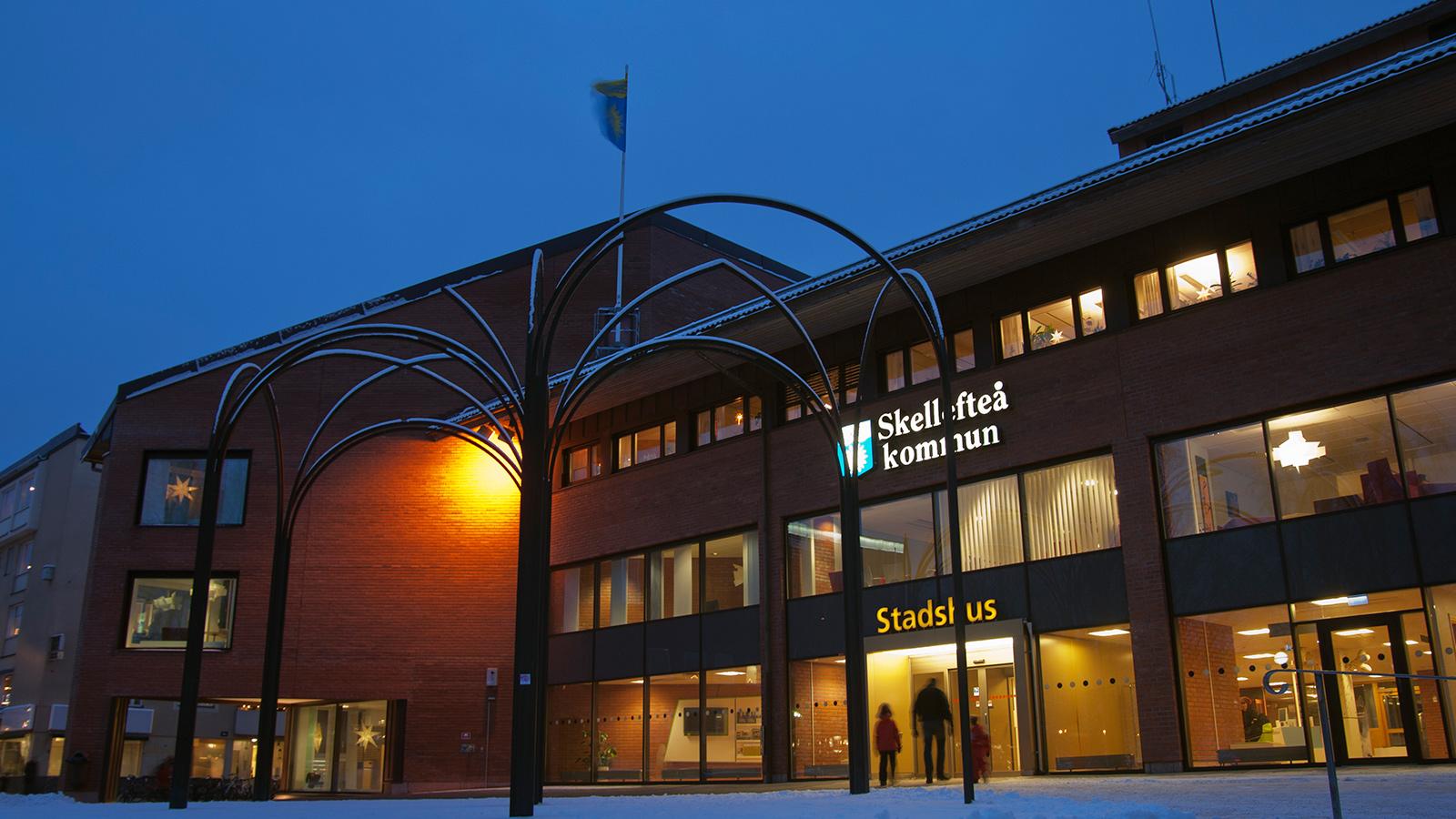 Skellefteå stadshus. Foto: Carina Wallin.