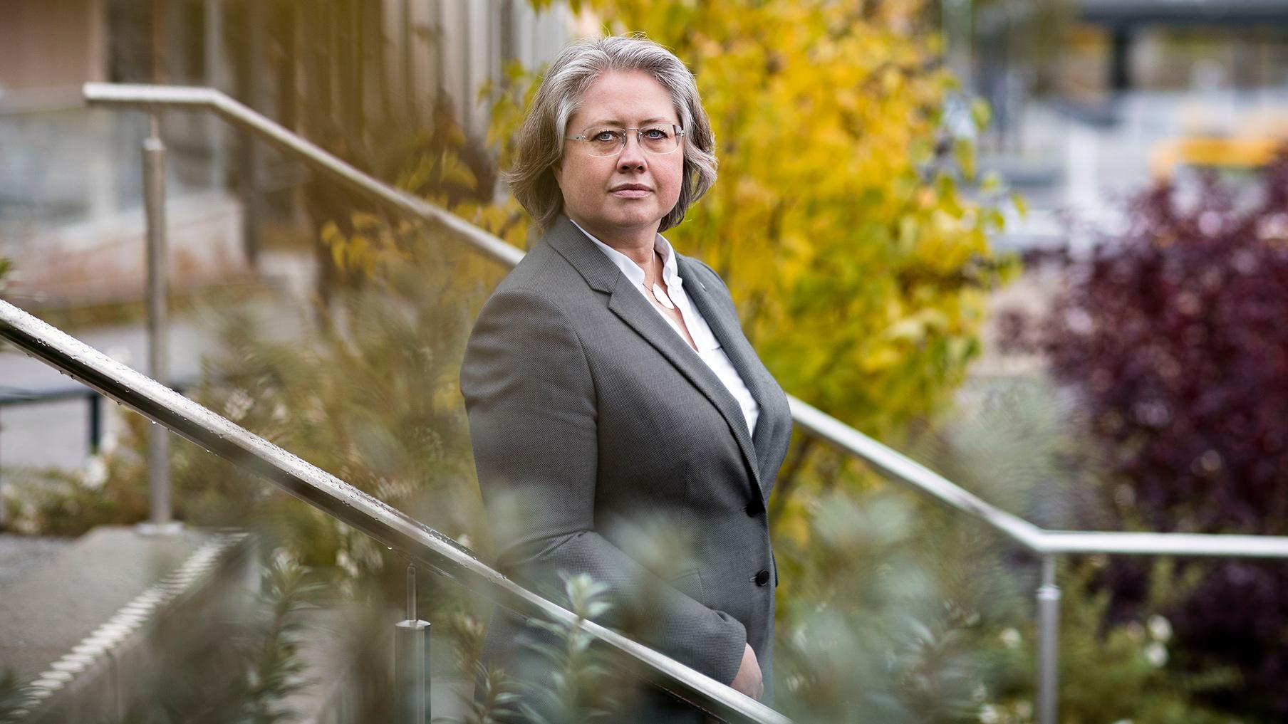 Ann-Christine Schmidt, FUI-koordinator på Skellefteå Kraft, är med och leder satsningen på startups inom förnybar energi. Fotograf är Paulina Holmgren