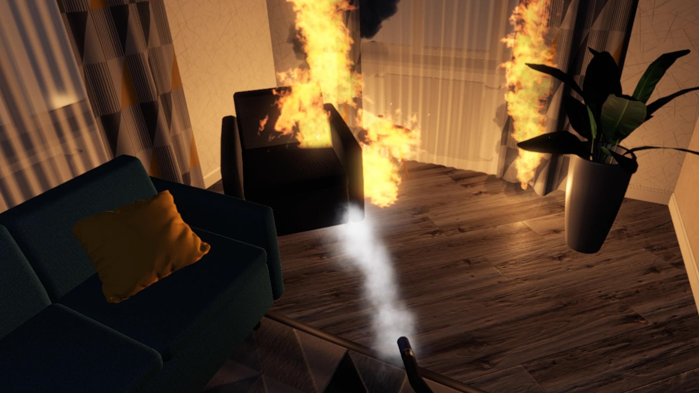 Brand i VR