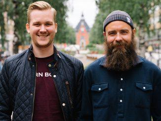 Ivan Fischer är ny key account manager på 84 Grams. På bilden tillsammans med Emil Westrin, försäljningschef.