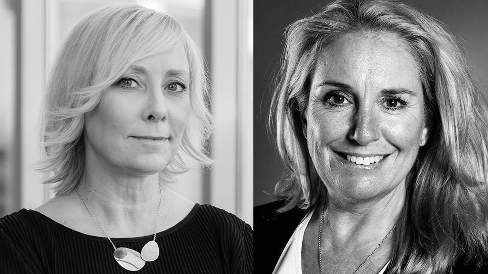 Therese Sinter, Sogeti, och Jennifer Rebel, DataTjej, vill att fler kvinnor inom IT-branschen ska få möjlighet att möta mentorer som bollplank.