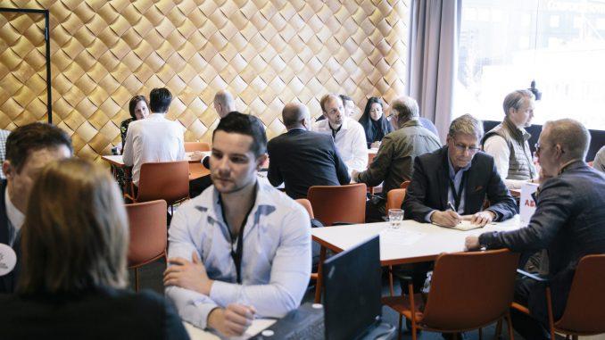 I samband med Sweden Innovation Days får startups och storbolag från Sverige chansen att träffa ny samarbetspartners från hela världen genom en unik matchmaking. Bilden är från en tidigare matchmaking i samband med Match Up 2020. Foto: Malin Grönborg.