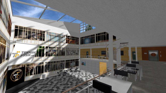I år sker kvalet i teknisk fysiks robottävling i en virtuell miljö där MIT-Place i MIT-huset byggts upp. BildTeknisk fysik
