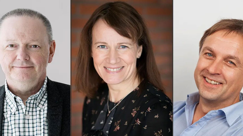 Hans Adolfsson, Kristina Sundin Jonsson och Lorents Burman ser fram mot samarbete mellan Umeå universitet och SKellefteå kommun. Foto: Elin Berge och Patrick Degerman.