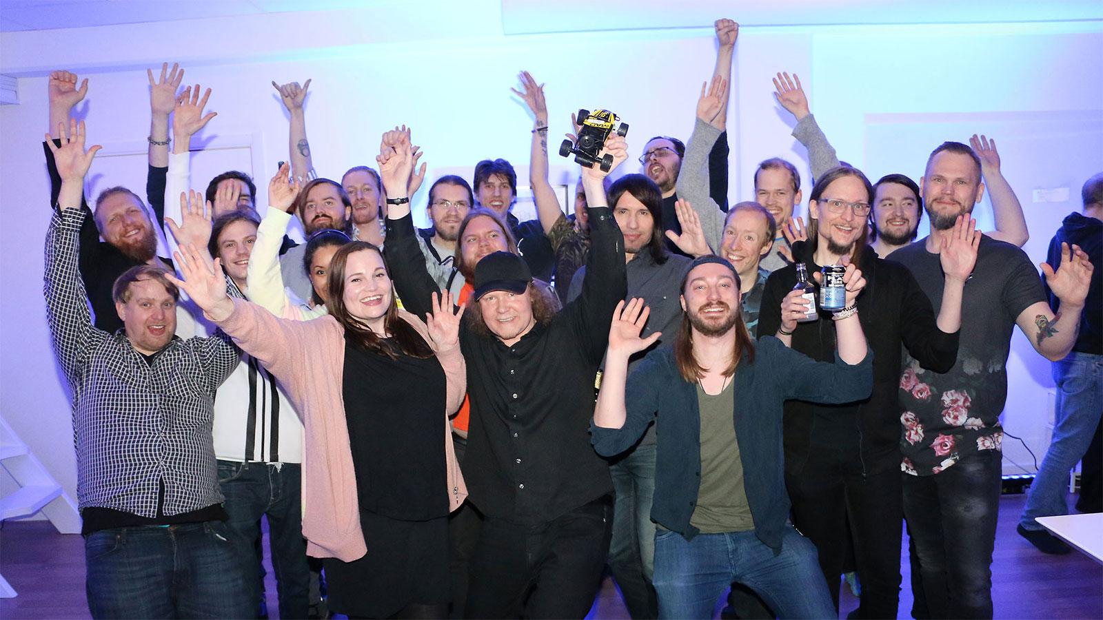 Zordix firar sina många segrar. Foto: Mikael Hansson.