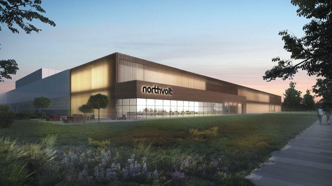 Northvolt-fabrik i Polen.