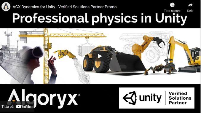 Algoryx film med Unity