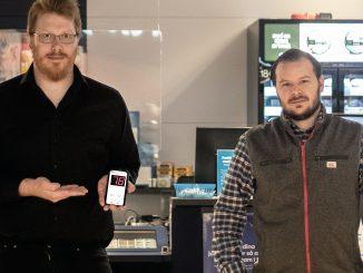 Stefan Karlsson hos Unline och Daniel Erström hos ICA Ålidhem.